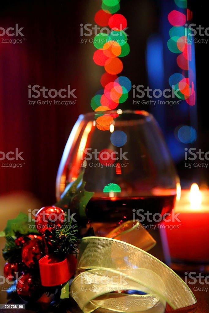 Christmas brandy stock photo