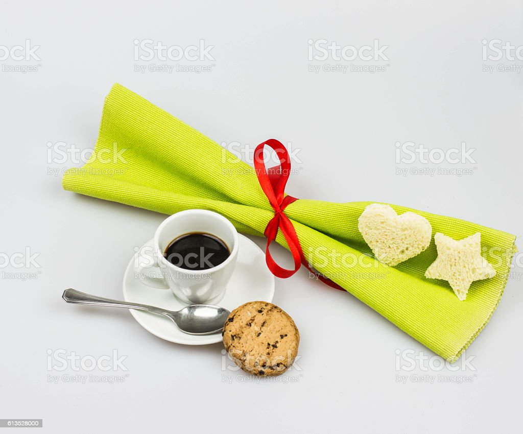 Christmas breakfast stock photo