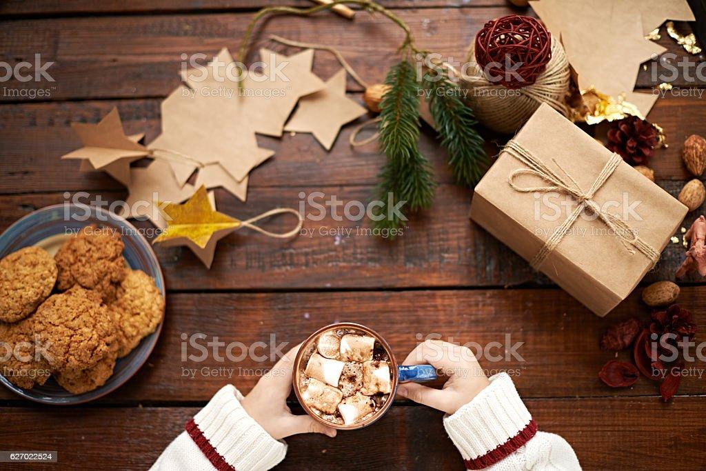 Christmas breakfast stock photo