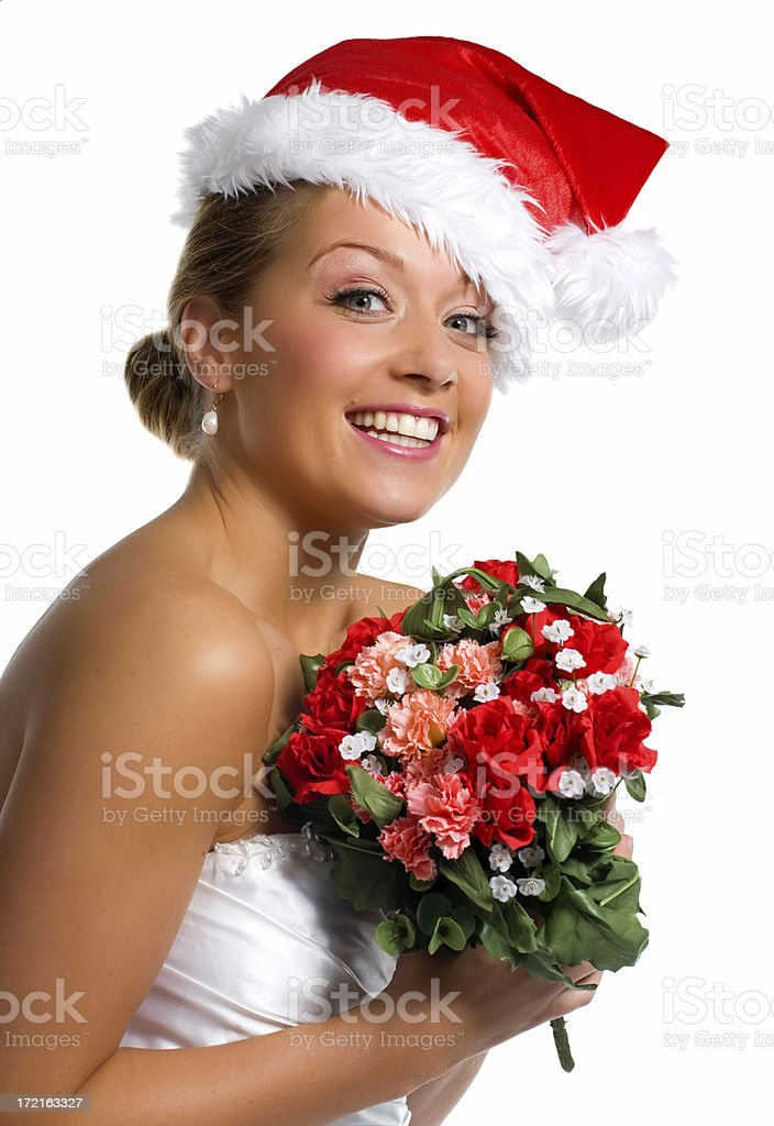 Christmas Bride royalty-free stock photo