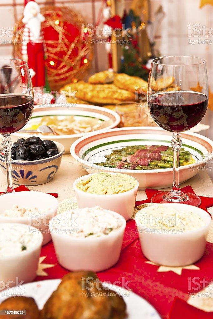 Christmas Buffet royalty-free stock photo
