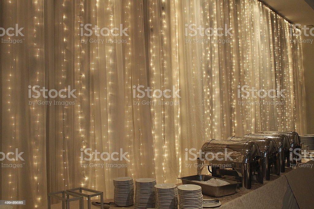 Christmas Buffet stock photo