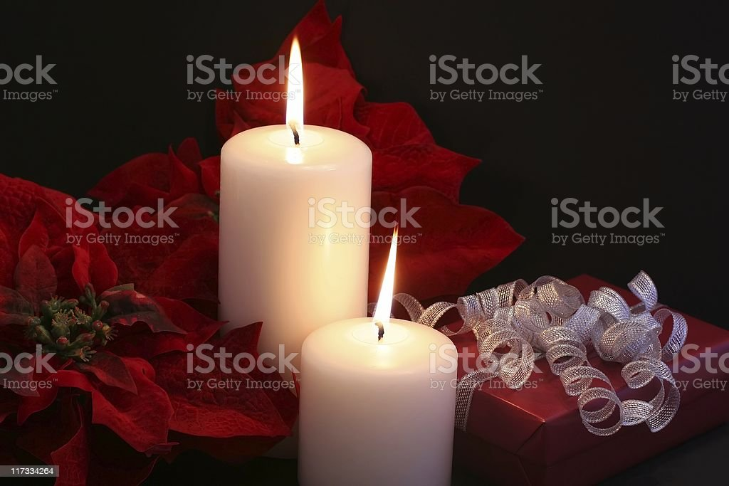 Christmas by Candle Light royalty-free stock photo