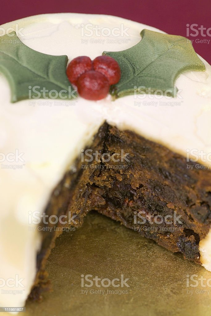 Christmas cake close up and narrow dof royalty-free stock photo