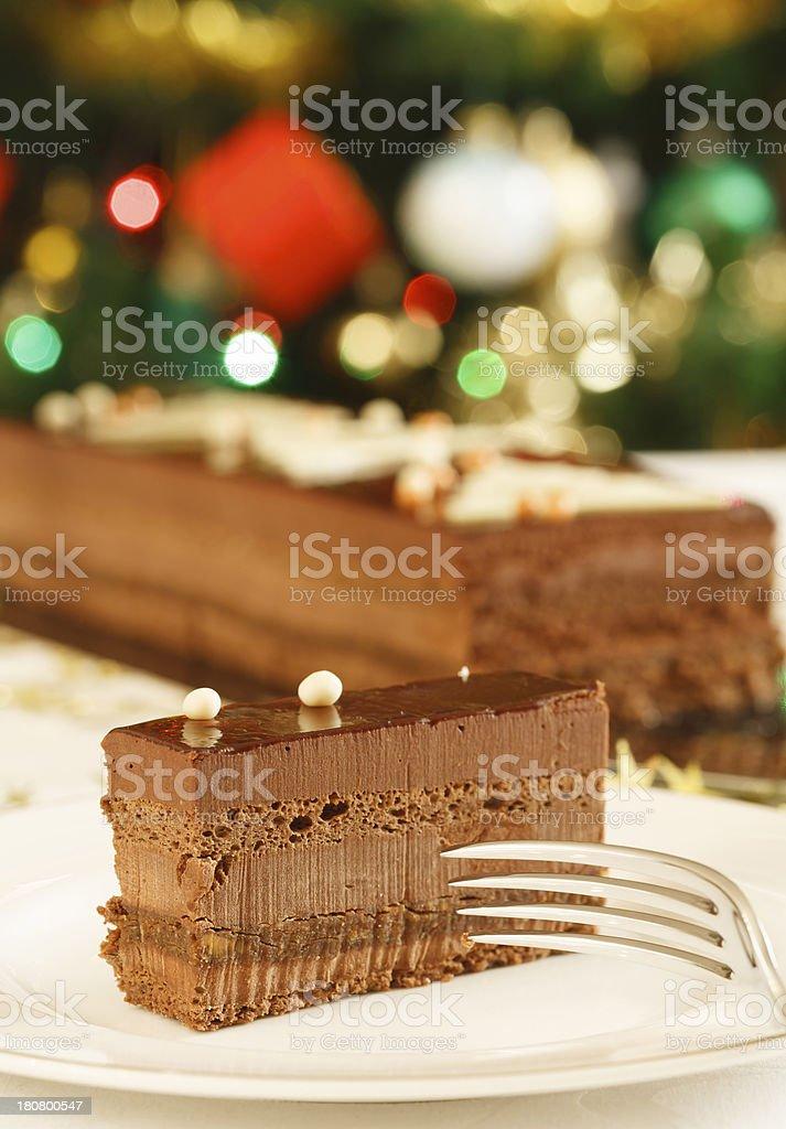 Christmas cake dessert royalty-free stock photo