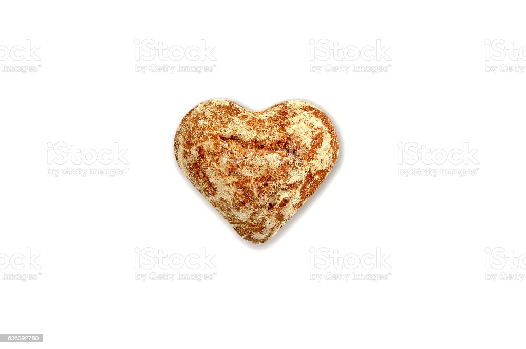 christmas cake in the shape of a heart stock photo