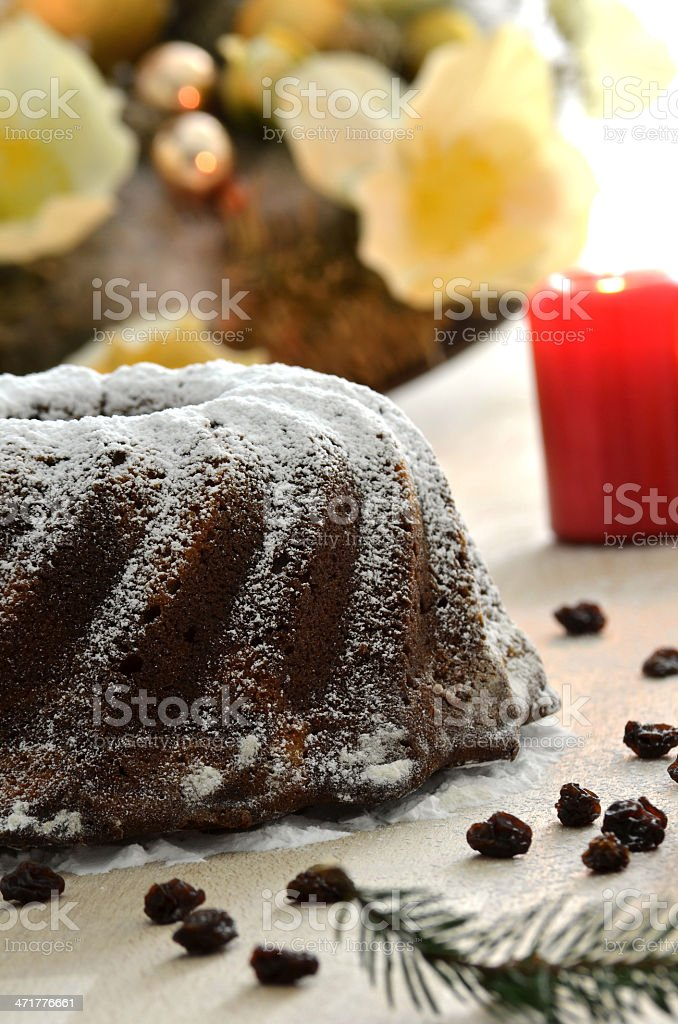 Christmas cake royalty-free stock photo