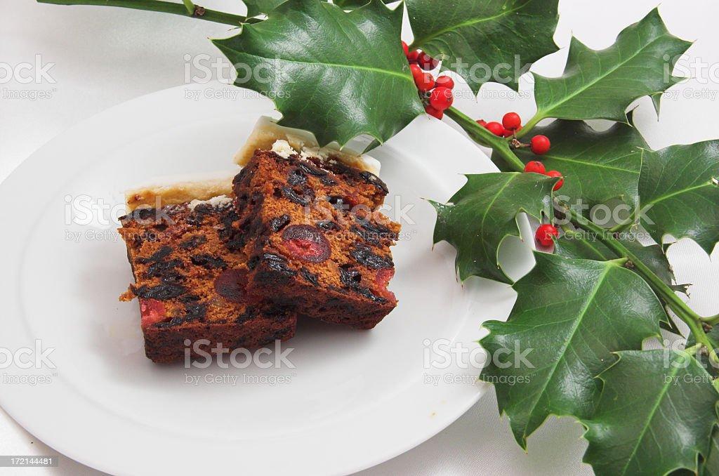 Christmas cake slices royalty-free stock photo