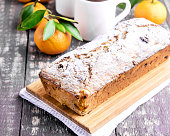 Christmas cake with citrus and berry