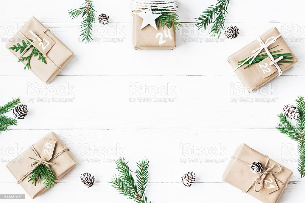 Christmas calendar stock photo