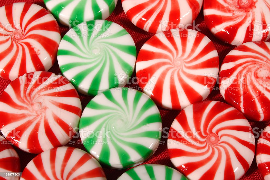 Christmas  Candies Top Perspective royalty-free stock photo