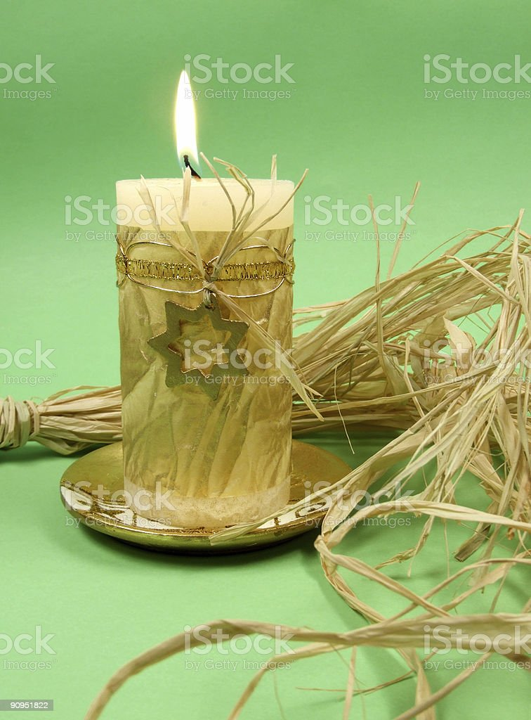 Christmas candle decoration royalty-free stock photo