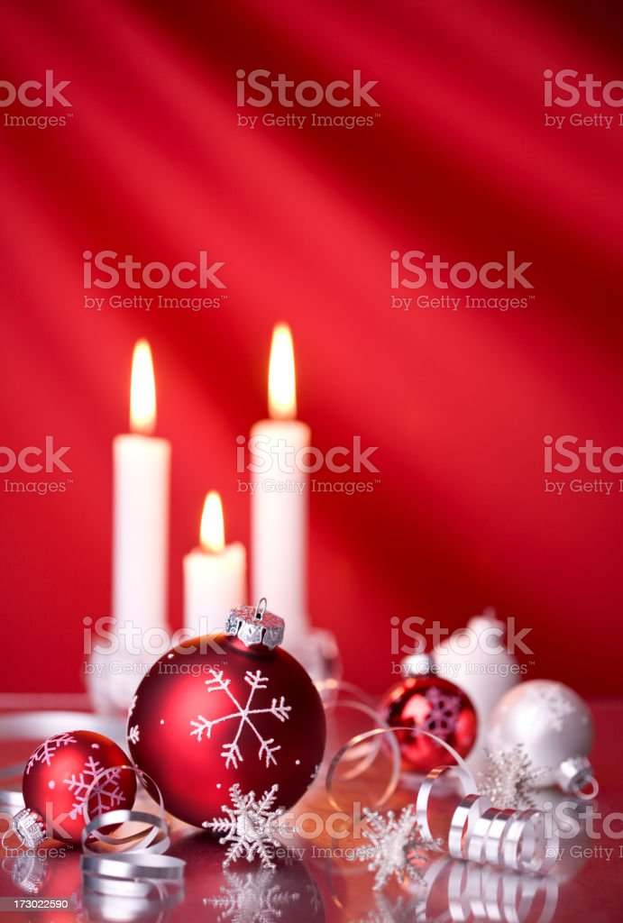 Christmas Candles & Baubles (XXL) royalty-free stock photo