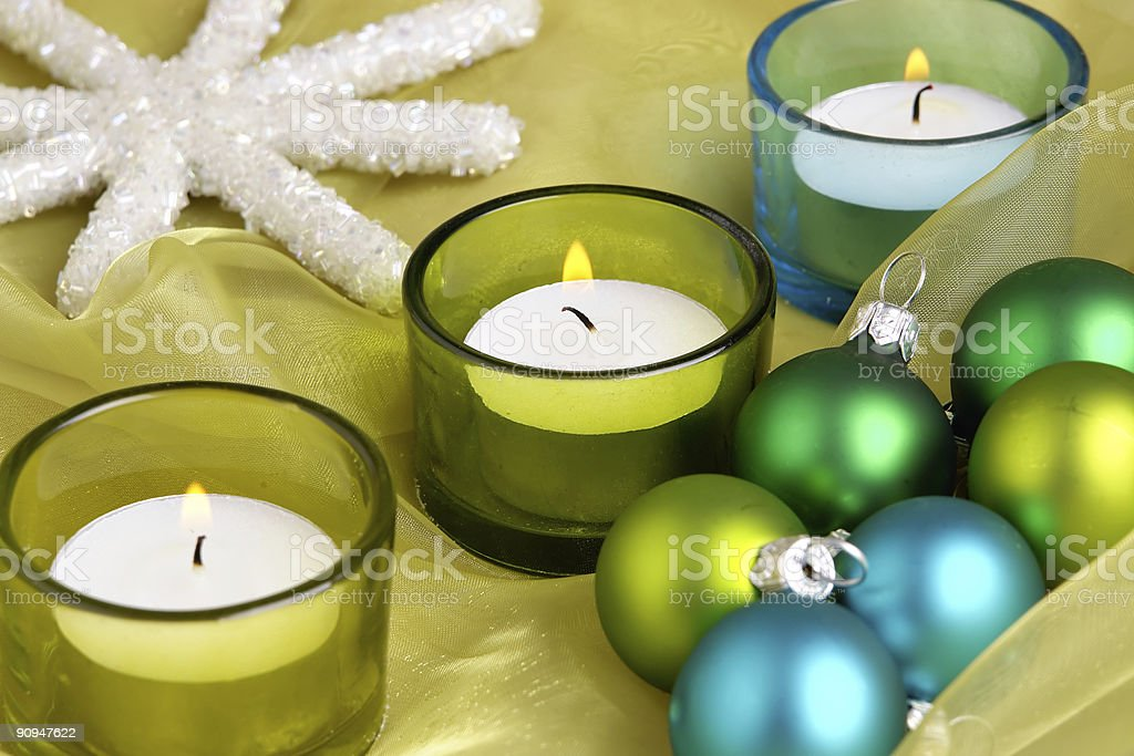 Christmas candles royalty-free stock photo