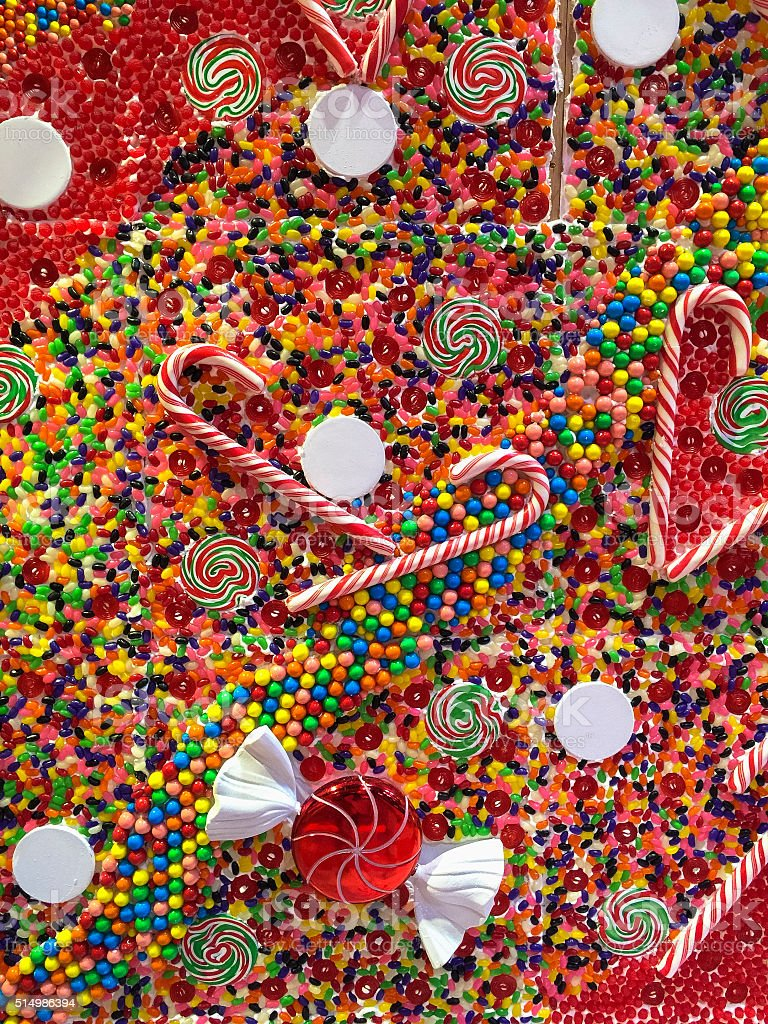 Christmas Candy Background stock photo
