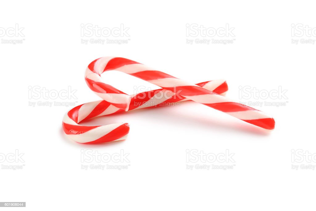 Christmas candy can isolated on a white stock photo