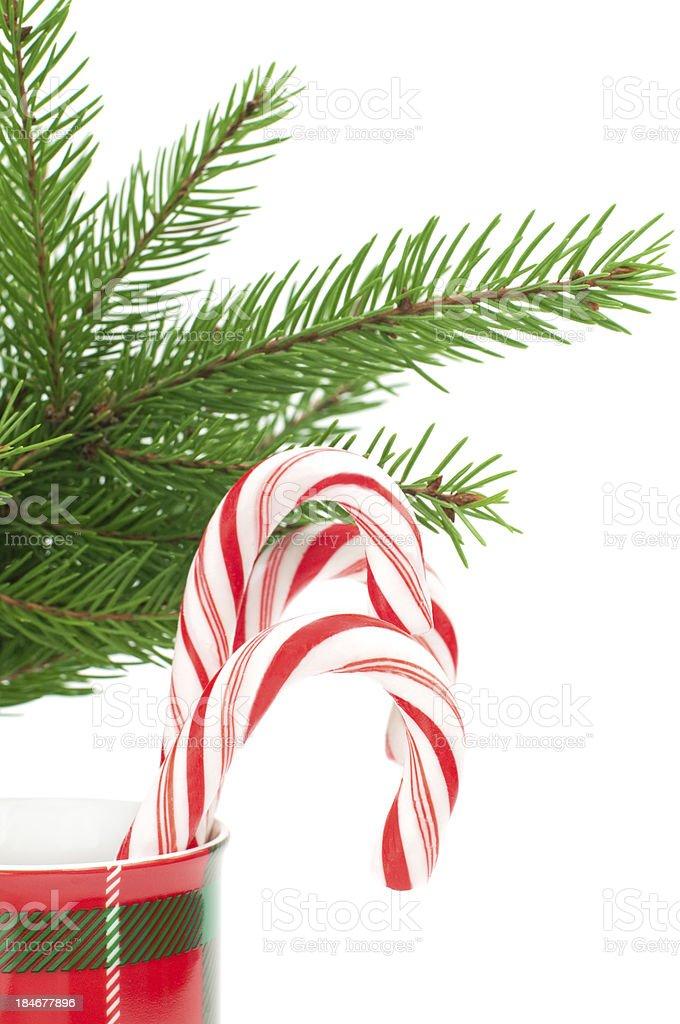 Christmas candy canes photo libre de droits