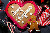 Christmas Candy Cookie Parade - Gingerbread Heart