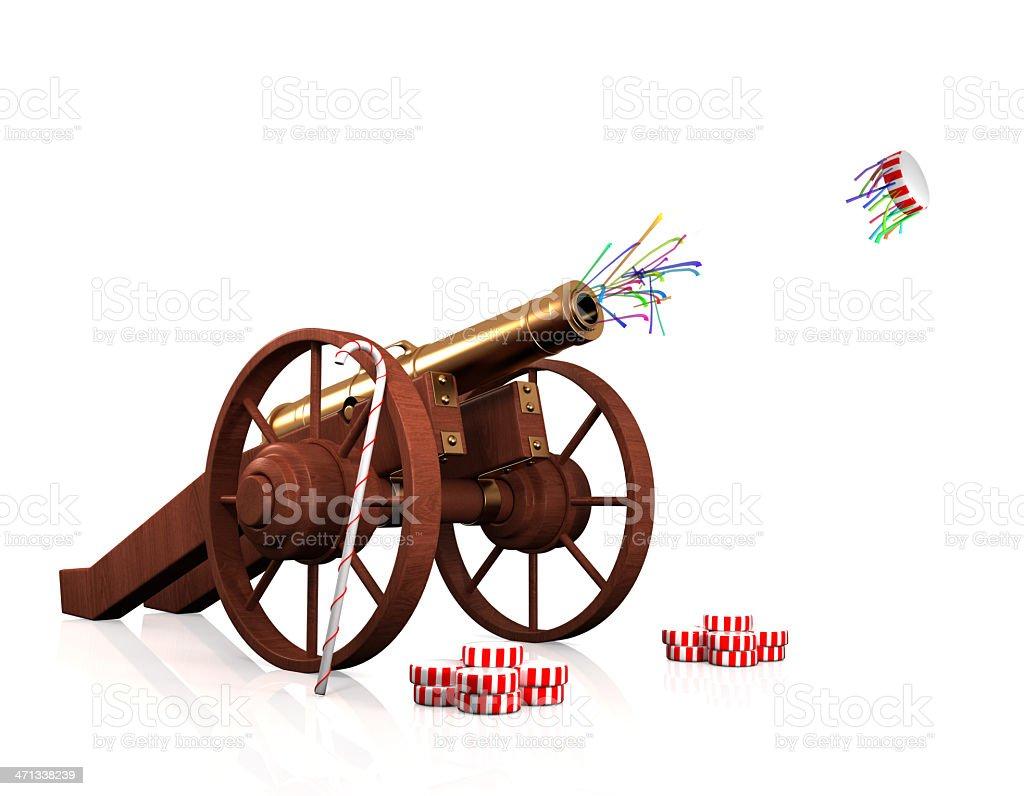 christmas cannon stock photo