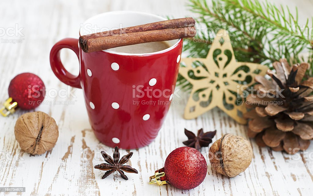 Christmas cappuccino royalty-free stock photo