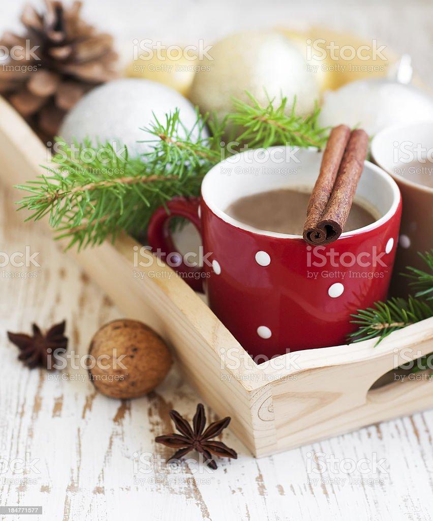 Christmas cappuccino royalty-free stock photo