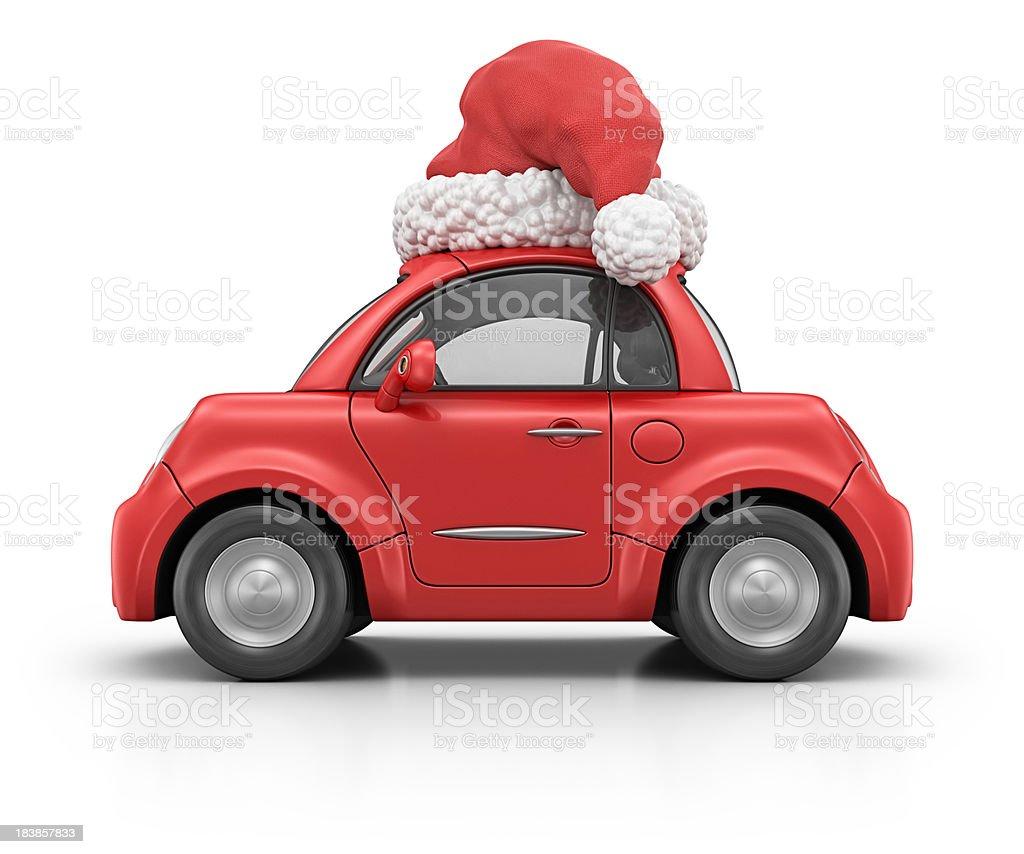 christmas car royalty-free stock photo
