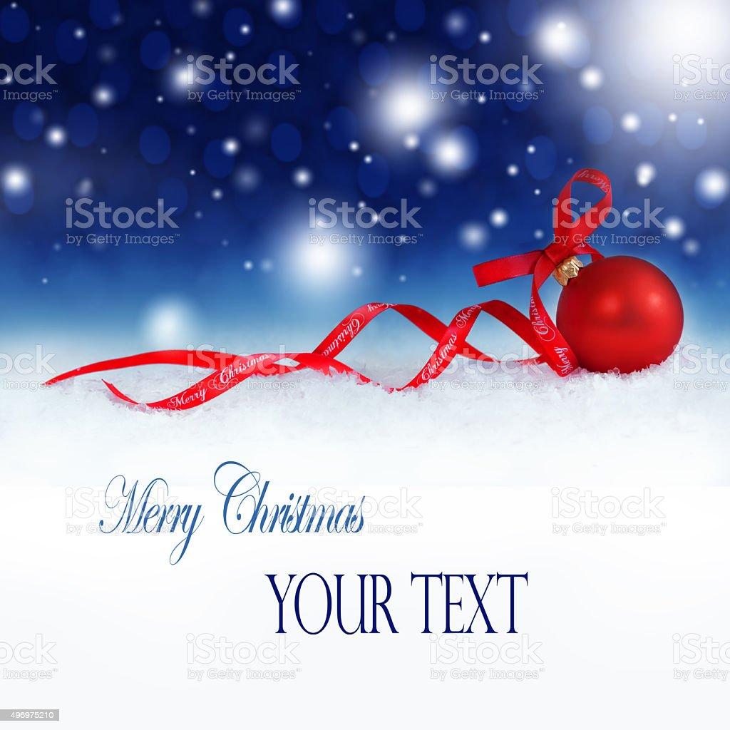 Christmas Card 4a stock photo