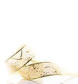 christmas card gold ribbon