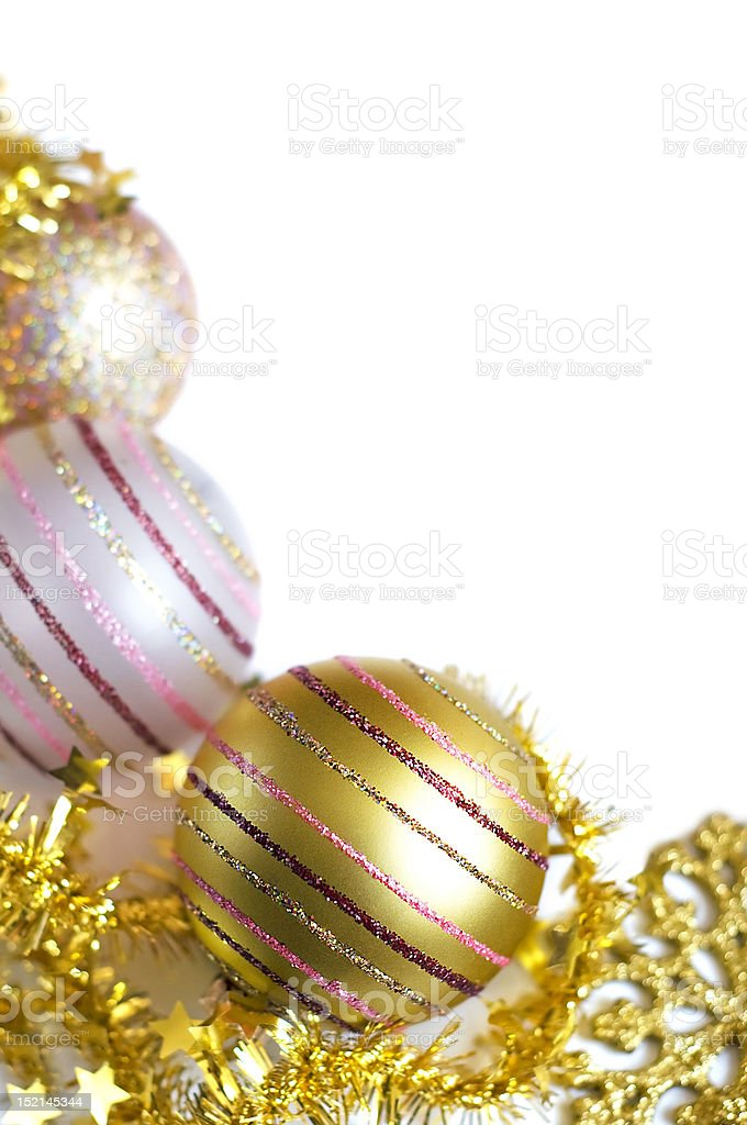 Christmas card, golden theme royalty-free stock photo
