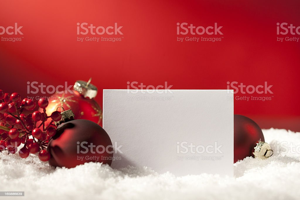 Christmas Card stock photo
