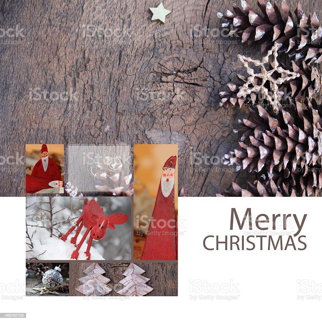Christmas Card Santa Claus royalty-free stock photo