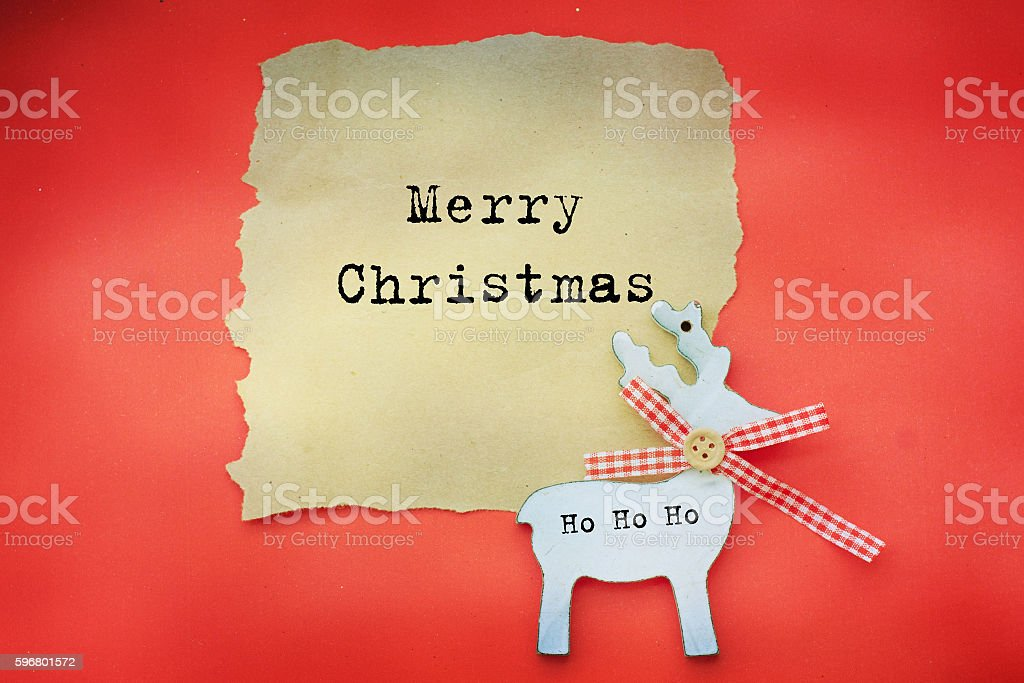 Christmas card with  decoration stock photo