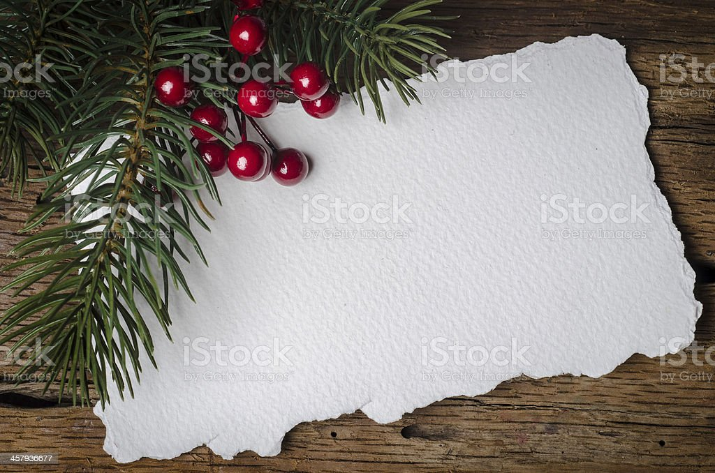 Christmas card with decorations stock photo