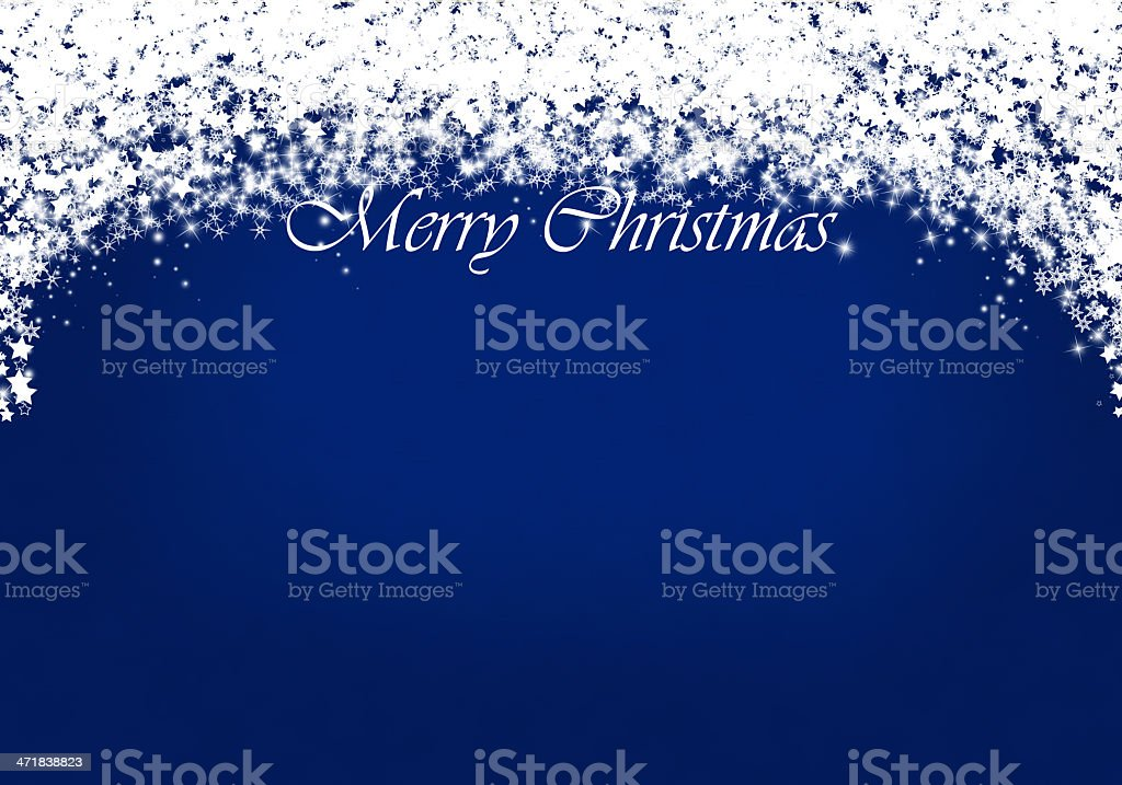 Christmas card with star shapes royalty-free stock photo
