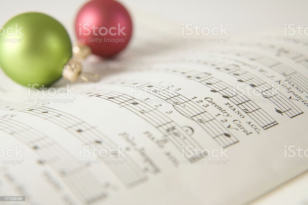 Christmas Carol Music stock photo