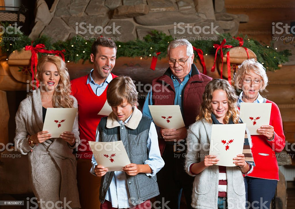 Christmas Carols stock photo