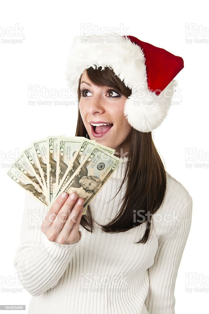Christmas Cash royalty-free stock photo