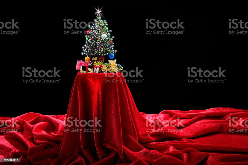 Christmas celebration exhibition stock photo
