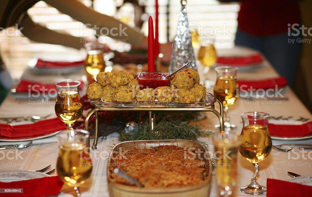 christmas celebration scenes - set table royalty-free stock photo