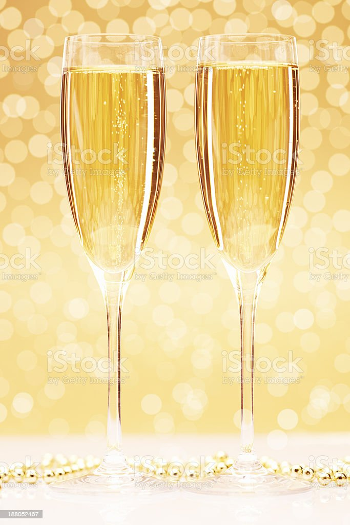 Christmas champagne royalty-free stock photo