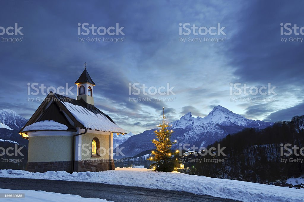 Christmas Chapel royalty-free stock photo