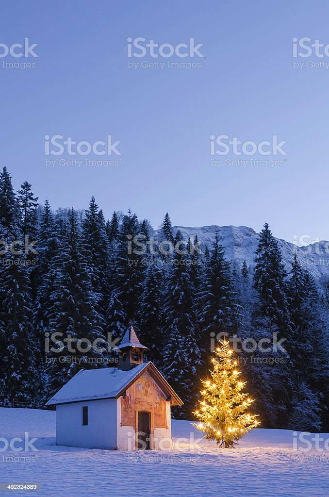 Christmas Chapel stock photo