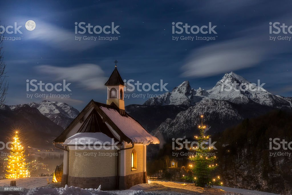 Christmas Chapel stock photo