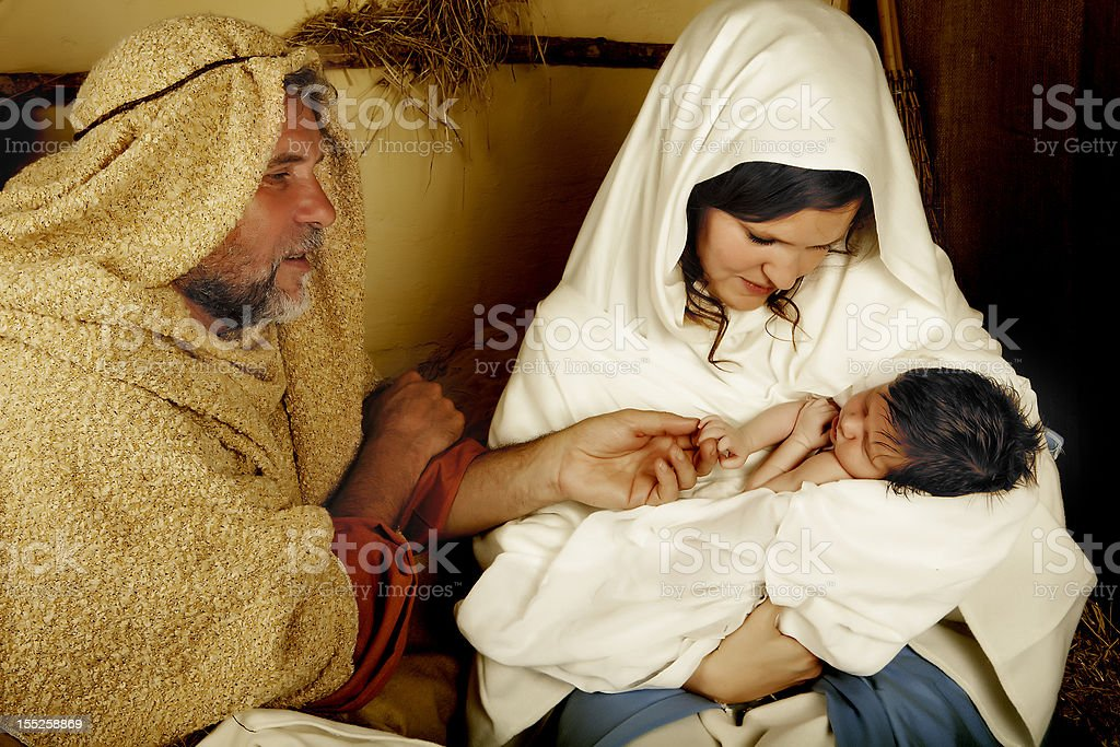 Christmas child is born royalty-free stock photo