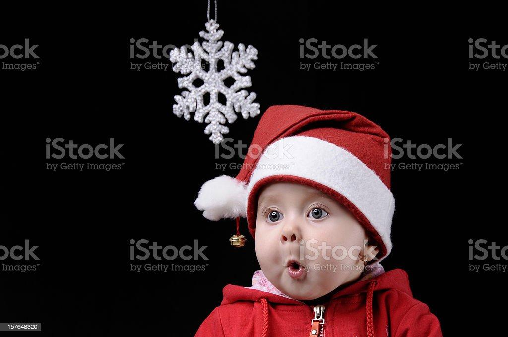 christmas child stock photo