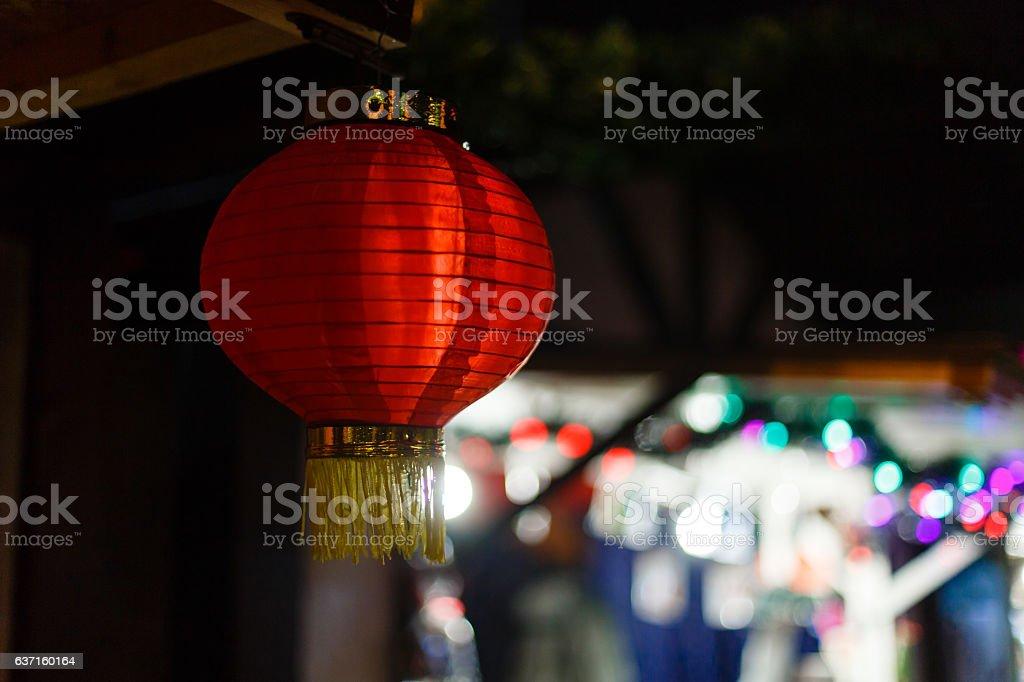 Christmas Chinese lantern, Xi'an, China stock photo