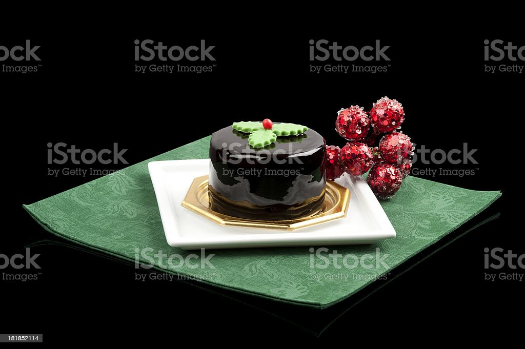 Christmas chocolate cake royalty-free stock photo