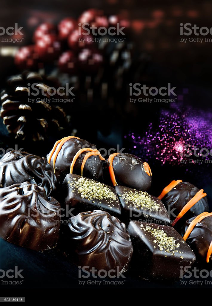Christmas Chocolates stock photo