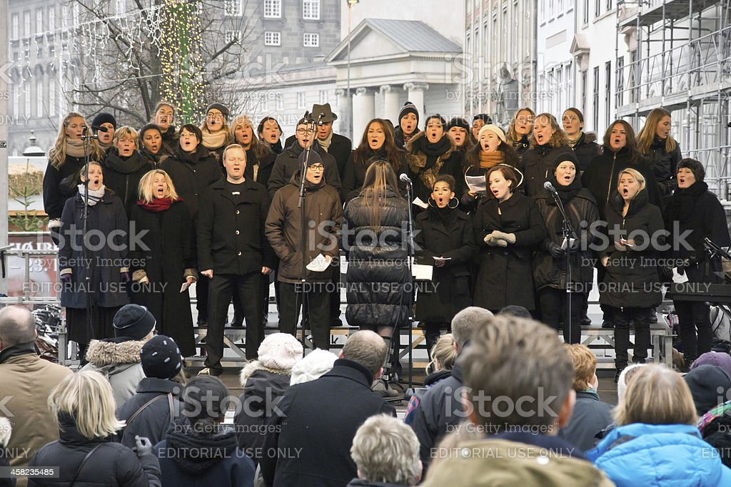 Christmas choir stock photo