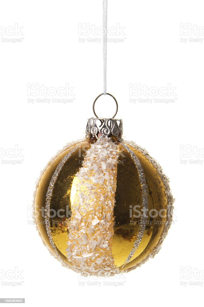 Weihnachten, Weihnachtskugel gold mit wei? royalty-free stock photo